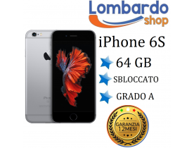 Apple Iphone 6S 64GB grado A nero grey originale rigenerato ricondizionato