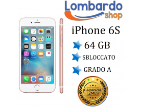 Apple Iphone 6S 64GB grado A rosa originale rigenerato ricondizionato