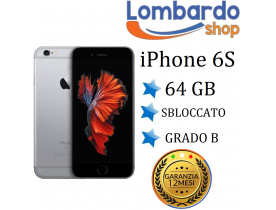 Apple Iphone 6S 64GB grado B Nero Grey originale rigenerato ricondizionato