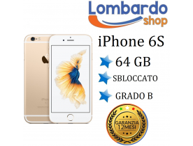 Apple Iphone 6S 64GB grado B Oro Gold originale rigenerato ricondizionato