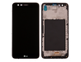 Touch screen vetro + lcd display per LG K10 2017 M250N con frame Nero