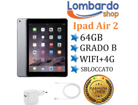 Apple iPad Air 2 16GB WIFI 4G sim cellular ricondizionato grado B Nero