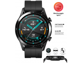 OROLOGIO HUAWEI WATCH GT 2 46MM QUADRANTE 3D BLUETOOTH GPS MATTE BLACK NERO