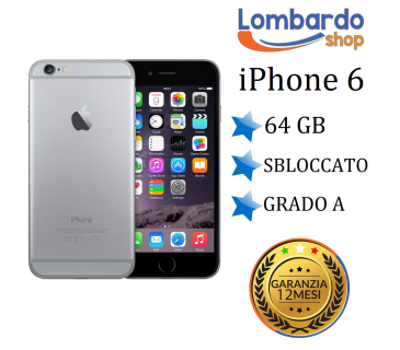 Apple Iphone 6 64GB grado A Nero Space Grey originale rigenerato ricondizionato
