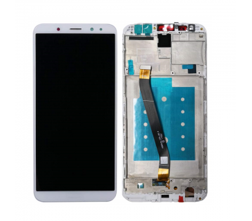 Display vetro lcd touch screen con frame per HUAWEI MATE 10 LITE BIANCO