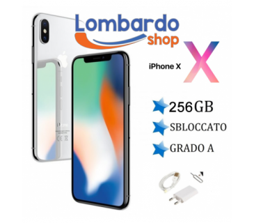 Apple Iphone X GRADO A 256GB originale rigenerato ricondizionato