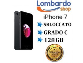 Apple iPhone 7 128GB grado C Nero Opaco Grey originale rigenerato ricondizionato