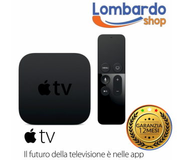 Apple TV 4 Generazione 32GB A8 HDMI WLAN Siri Remote controller A1625 MGY52QM/A