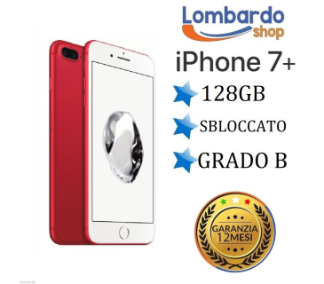 iPhone 7 Plus da 128GB grado B Rosso Red ricondizionato rigenerato originale Apple