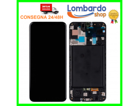 Touch screen con frame Lcd Display Oled per Samsung GALAXY A50 SM-A505 A505F DS