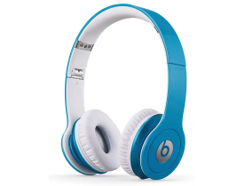 CUFFIE CON CAVO BEATS BY DR DRE SOLO HD ON EAR LIGHT BLUE BULK RICONDIZIONATE