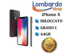 Apple Iphone X GRADO C 64GB Nero Black originale rigenerato ricondizionato