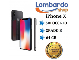 Apple iPhone X 64GB grado B Nero Black originale rigenerato ricondizionato