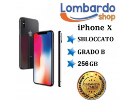 Apple iPhone X 256GB grado B Nero Black originale rigenerato ricondizionato