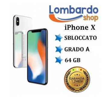 Apple Iphone X GRADO A 64GB originale rigenerato ricondizionato