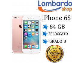Apple Iphone 6S 64GB grado B rosa originale rigenerato ricondizionato