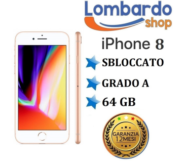 Apple Iphone 8 Plus GRADO A 64GB originale rigenerato ricondizionato