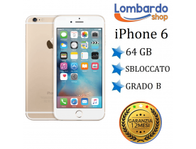 Apple Iphone 6 64GB grado B Oro Gold originale rigenerato ricondizionato