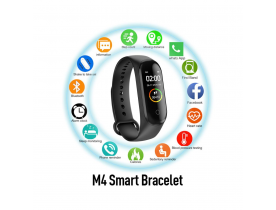 Orologio smartwatch M4 smart band fitness tracker con cardiofrequenzimetro