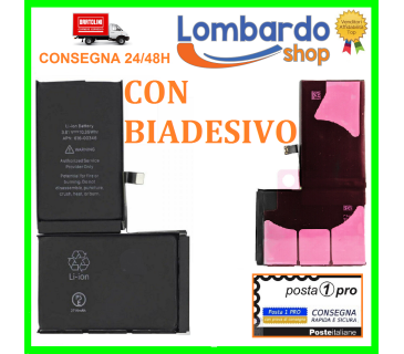 Batteria ricambio per Apple iPhone X 2716 MAH con biadesivo pari ad originale