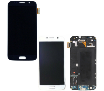 Display vetro lcd touch screen con frame per SAMSUNG GALAXY S6 G920F