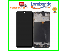 Display lcd vetro touch screen pari ad originale per SAMSUNG GALAXY A10 SM A105F con frame