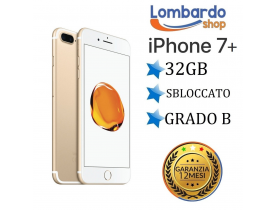 Apple Iphone 7 Plus 32GB grado B Gold Oro originale rigenerato ricondizionato