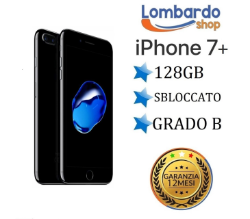 iPhone 7 Plus da 128GB grado B nero jet black ricondizionato rigenerato originale Apple
