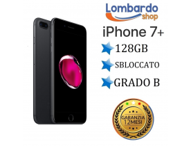 iPhone 7 Plus da 128GB grado B nero opaco ricondizionato rigenerato originale Apple