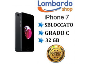 Apple iPhone 7 32GB grado C Nero Opaco Grey originale rigenerato ricondizionato