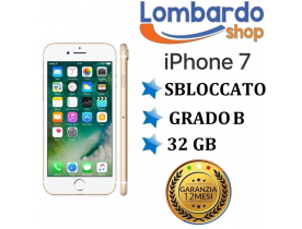 Apple iPhone 7 32GB grado B Oro Gold originale rigenerato ricondizionato