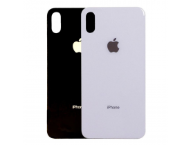 Vetro posteriore scocca per Apple iPhone X back cover BIANCO SILVER NERO GREY