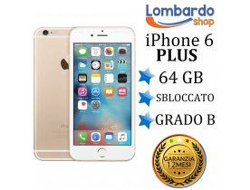 Apple iPhone 6 Plus 64GB grado B Oro rigenerato ricondizionato