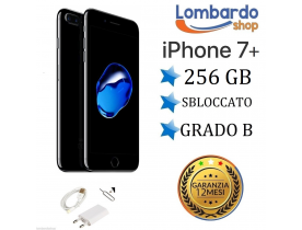 iPhone 7 Plus ricondizionato 256GB grado B NERO JET BLACK Apple rigenerato