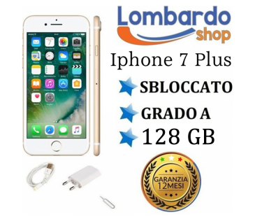 Apple Iphone 7 Plus 128 GB grado A originale rigenerato ricondizionato