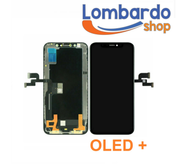 Display lcd schermo vetro per iPhone XS OLED TOP touch screen nero black